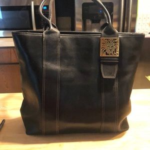 Gorgeous black leather Anne Klein bag